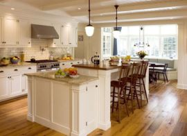 Modern cream painted kitchen cabinets ideas 17