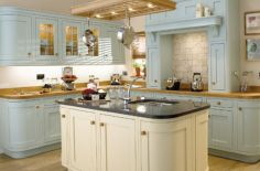Modern cream painted kitchen cabinets ideas 19