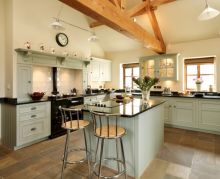 Modern cream painted kitchen cabinets ideas 26