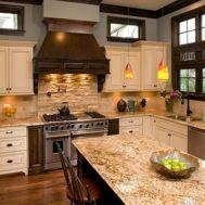 Modern cream painted kitchen cabinets ideas 28