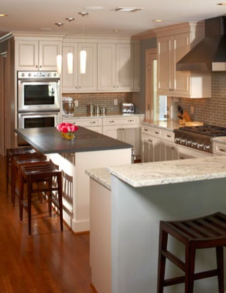 Modern cream painted kitchen cabinets ideas 35