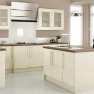 Modern cream painted kitchen cabinets ideas 52