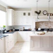 Modern cream painted kitchen cabinets ideas 60