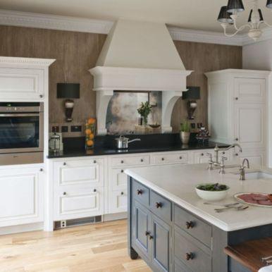 Modern cream painted kitchen cabinets ideas 63