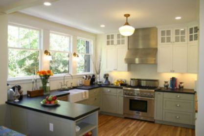 Modern cream painted kitchen cabinets ideas 65