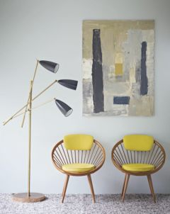 Painted mid century modern furniture 04