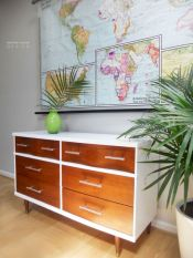 Painted mid century modern furniture 08