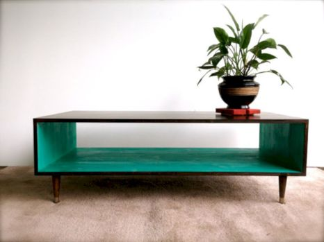 Painted mid century modern furniture 13