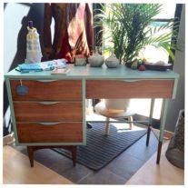 Painted mid century modern furniture 29