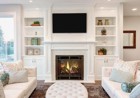 Simple living room design ideas with tv 10