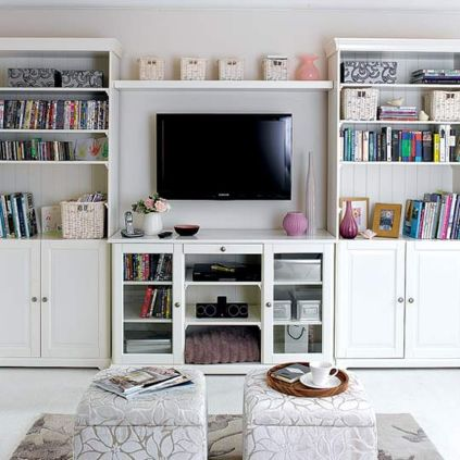 Simple living room design ideas with tv 24