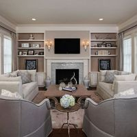 Simple living room design ideas with tv 26 - Round Decor