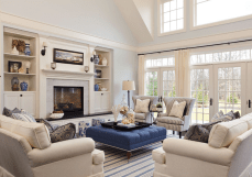 Simple and comfortable living room ideas 24