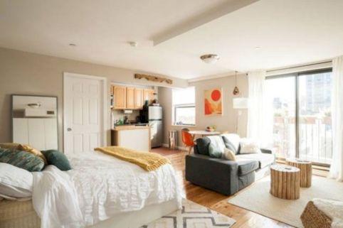 50 Cozy Minimalist Studio Apartment Decor Ideas - ROUNDECOR