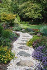 Stunning garden design ideas with stones 20
