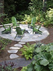 Stunning garden design ideas with stones 44