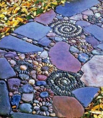 Stunning garden design ideas with stones 50