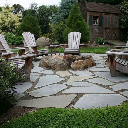 Stunning garden design ideas with stones 53