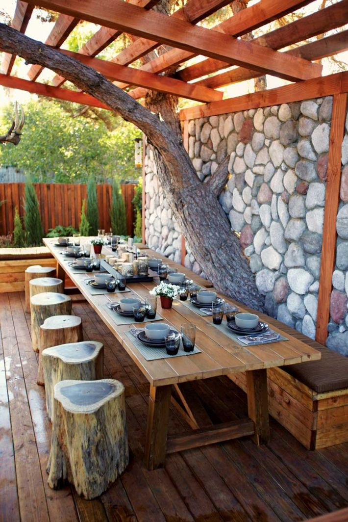 Stunning garden design ideas with stones 56
