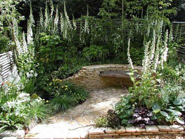 Stunning garden design ideas with stones 59