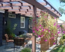 Stunning garden pergola ideas with roof 04