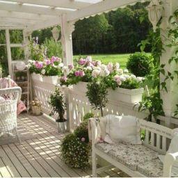 Stunning garden pergola ideas with roof 05
