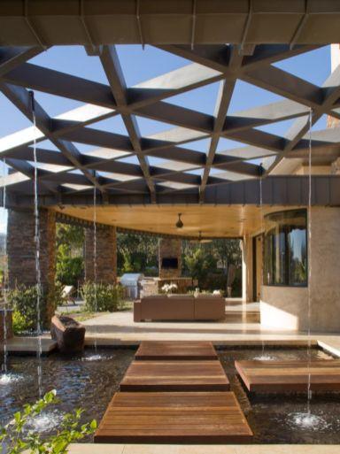 Stunning garden pergola ideas with roof 08