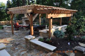 Stunning garden pergola ideas with roof 09