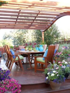 Stunning garden pergola ideas with roof 16