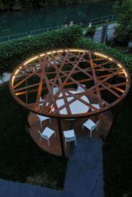 Stunning garden pergola ideas with roof 50