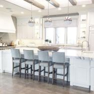Stunning grey wash kitchen cabinets ideas 24
