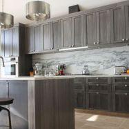 Stunning grey wash kitchen cabinets ideas 25