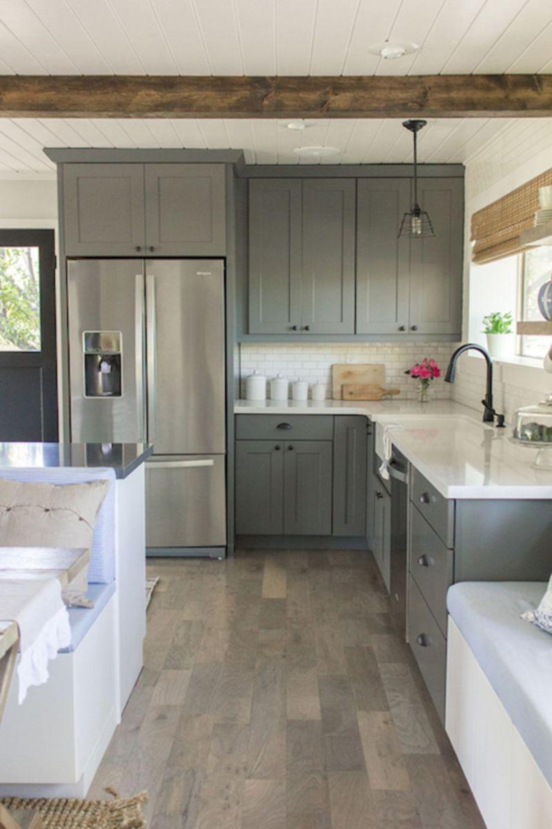 43 Stunning Grey Wash Kitchen Cabinets Ideas