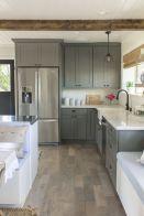 Stunning grey wash kitchen cabinets ideas 31