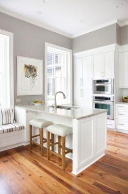 Stunning grey wash kitchen cabinets ideas 36