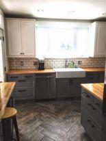 Stunning grey wash kitchen cabinets ideas 39