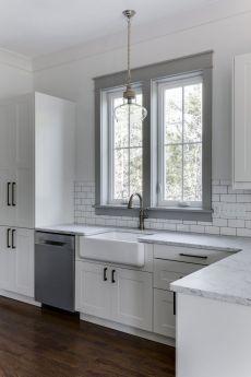 Stunning grey wash kitchen cabinets ideas 42