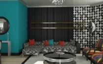 Stunning red brown and black living room design ideas 12