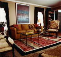 Stunning red brown and black living room design ideas 47