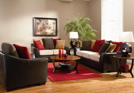 Stunning red brown and black living room design ideas 49