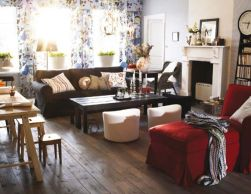 Stunning red brown and black living room design ideas 52
