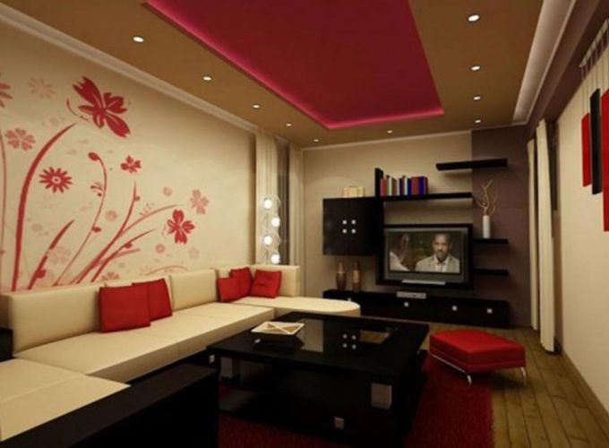Stunning red brown and black living room design ideas 53