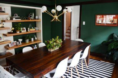 69 Stylish Dark Green Walls In Living Room Design Ideas Roundecor