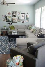 Stylish dark green walls in living room design ideas 28