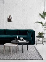 Stylish dark green walls in living room design ideas 29