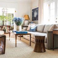 Stylish dark green walls in living room design ideas 44