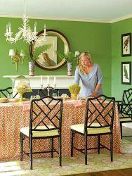 Stylish dark green walls in living room design ideas 53