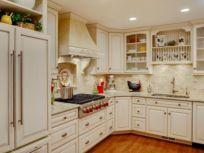Stylish kitchen designs ideas with corner sinks 12