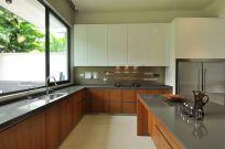 Stylish kitchen designs ideas with corner sinks 13