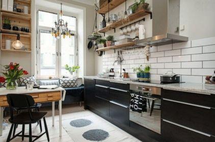 Stylish kitchen designs ideas with corner sinks 36